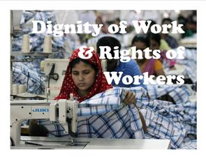 Dignity of Work, Rights of Workers, Catholic Social Teaching, Church of St. Therese, Chesapeake, VA